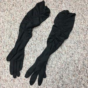 Black long vintage dress gloves Women's Formal